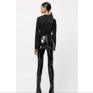WNTRMSE Iris Pant Onyx Faux Leather Pants Hi Rise